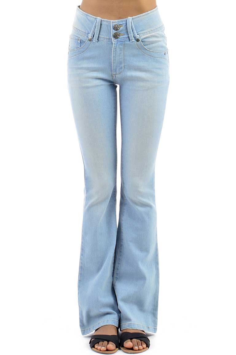 Faded Flared Jeans - Tique a Bou