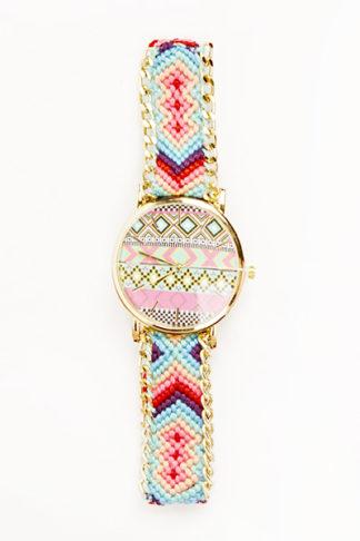 Aztec Woven Bracelet Watch