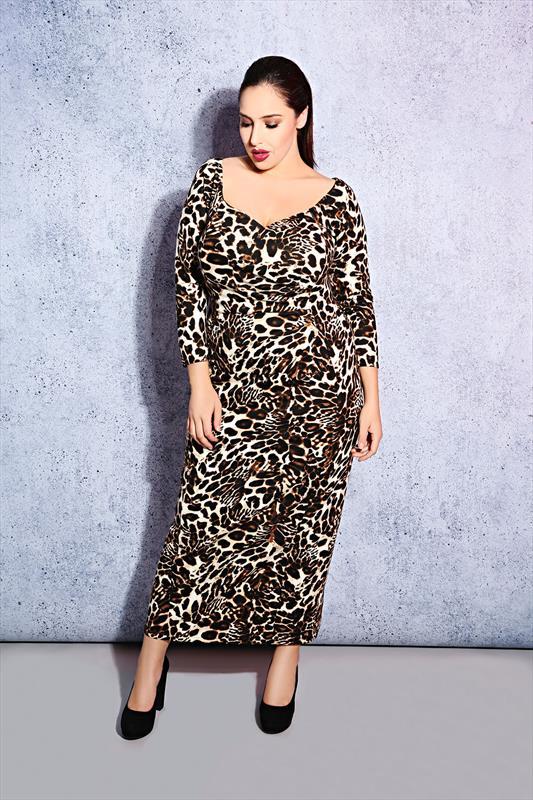 5f6fb55b05 Scarlett & Jo Leopard Print Plus Size Maxi Dress