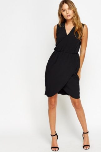 Wrap Elasticated Drape Dress