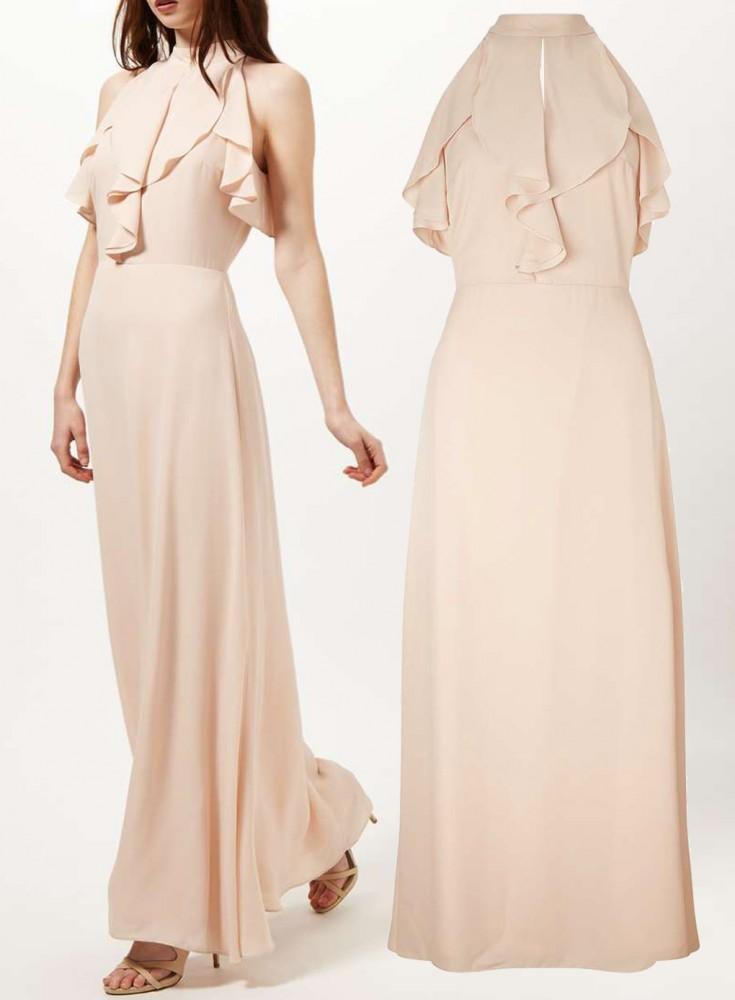 NUDE Ruffle Maxi Dress