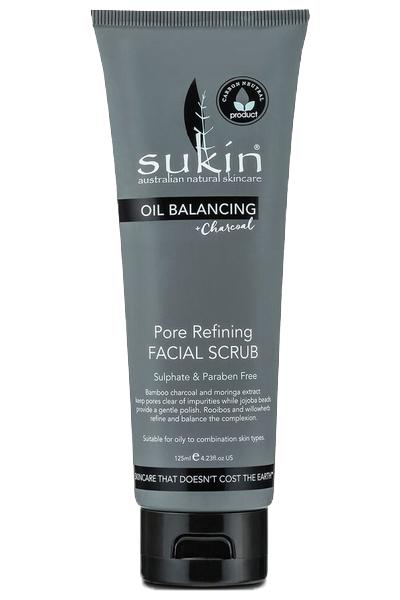 Sukin Oil Balancing Plus Charcoal Pore Refining Facial Scrub- 125ml