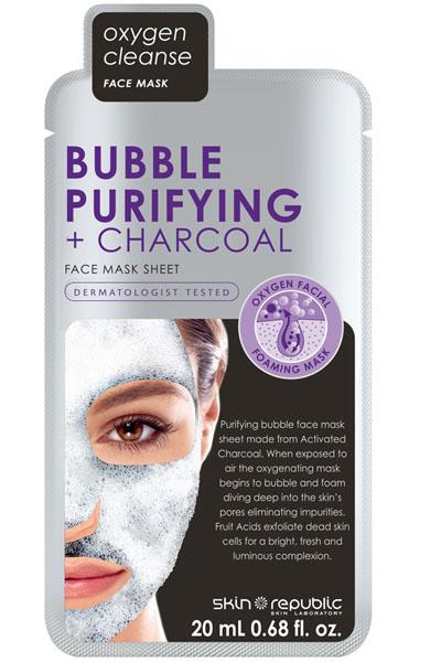 Skin Republic Bubble Charcoal Face Sheet Mask