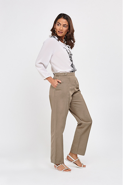 Basic Straight Leg Trousers1