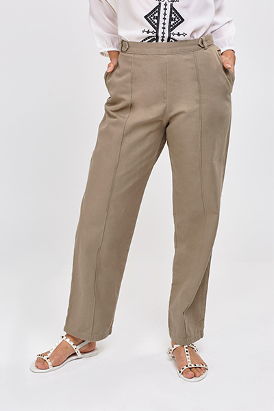 Basic Straight Leg Trousers2