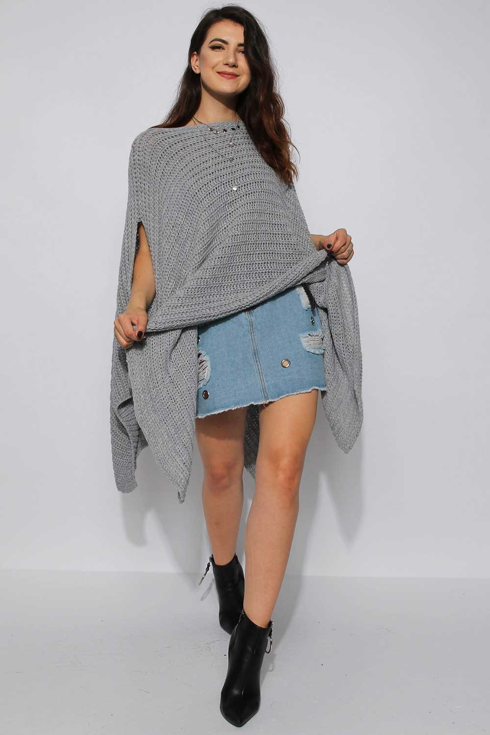 Chunky Knitted Cape