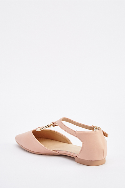 Cut Out D-Ring Court Shoes2