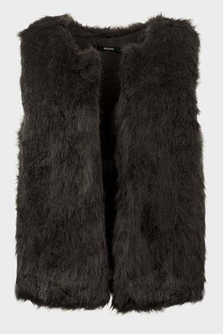 Faux Fur Open Front Gilet