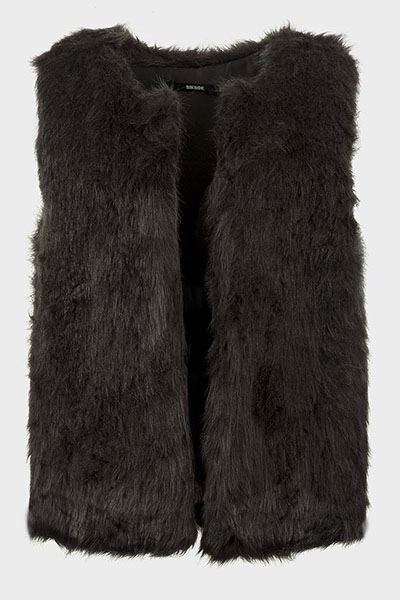 Faux Fur Open Front Gilet