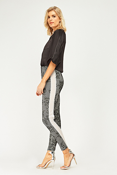 Fish Net Lace Overlay Trousers2