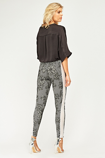 Fish Net Lace Overlay Trousers3