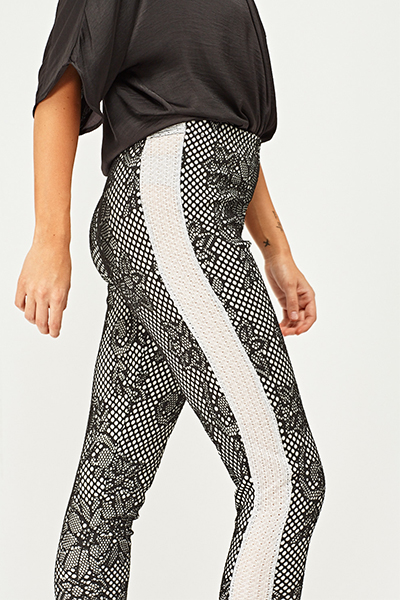 Fish Net Lace Overlay Trousers4