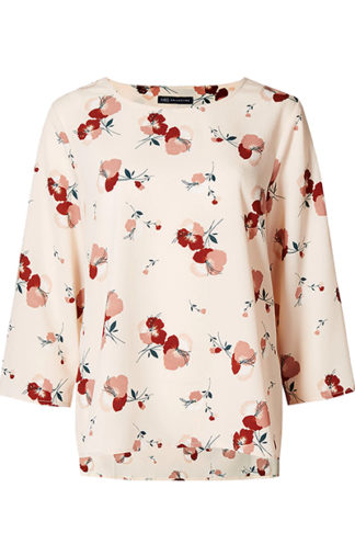 Floral Print 34 Sleeve Shell Top