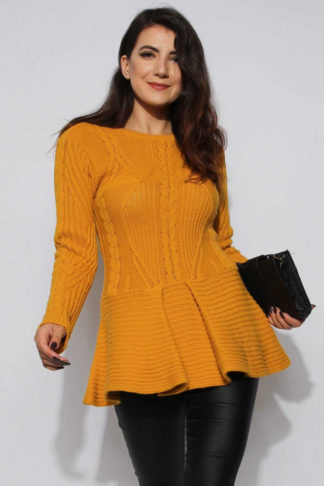 Knitted Peplum Jumper
