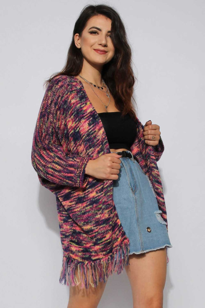 Multi-Colour Knitted Cardigan
