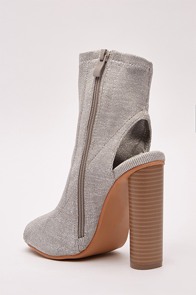 Open Toe Lurex Ankle Boots2