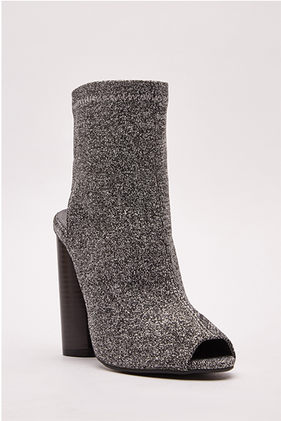 Open Toe Lurex Ankle Boots3