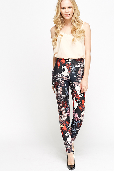 Printed Slim Leg Leggings