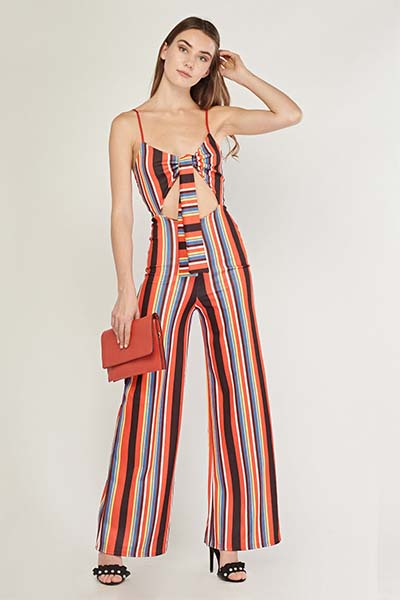 1bc65b3a2e2a Tie Up Multi Striped Jumpsuit - Tique a Bou Tie Up Multi Striped Jumpsuit